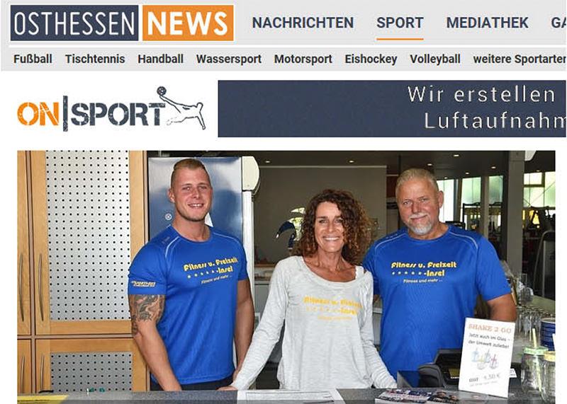 FitnessInsel Fulda – Bericht Osthessen News zu 31 Jahre