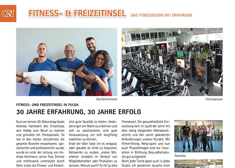 FitnessInsel Fulda – Bericht City News zu 30 Jahre